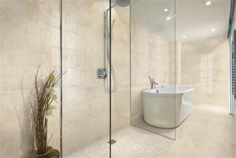 verdecom limestone  porcelain tile bathroom