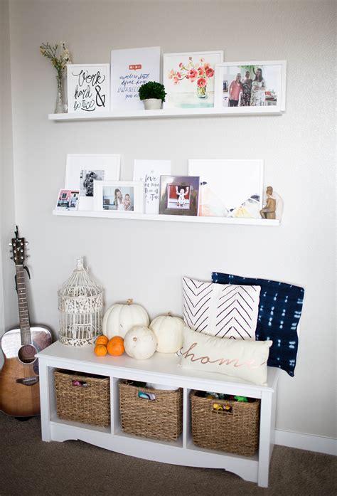 home white art shelves   living room positively oakes