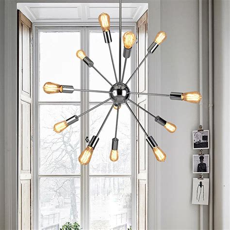 chrome sputnik chandelier 12 lights sputnik chandelier chrome finished pendant