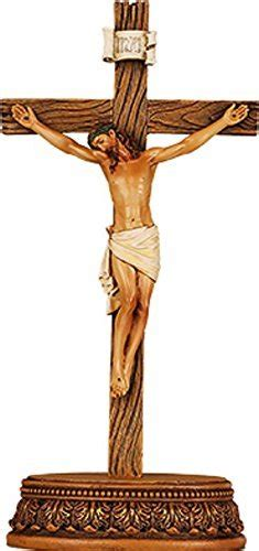 cm wood wooden  standing crucifix cross christ jesus