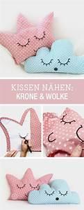 Kissen Nähen Ideen : diy anleitung kissen als krone und wolke n hen via kleine prinzessin diy ~ Markanthonyermac.com Haus und Dekorationen