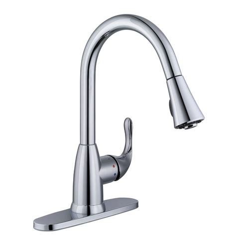 glacier bay single handle kitchen faucet glacier bay market single handle pull down sprayer kitchen faucet in chrome 67551 0001 the