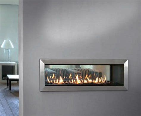 Gas Wall Fireplace by See Through Wall Fireplace Architecture Design In 2019
