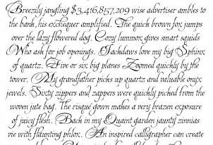 Best Calligraphy Fonts Alphabet