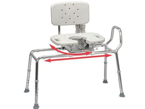 snap n save sliding shower chair bath transfer bench w cut