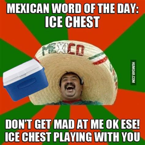 Funny Mexican Memes - mexican word of the day ice chest humor pinterest mexican words mexicans and meme