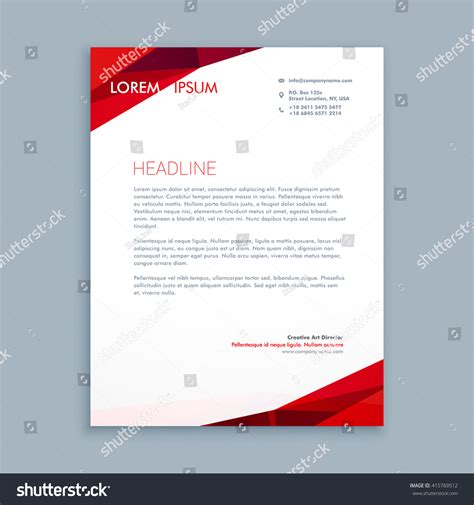 abstract letterhead template stock vector