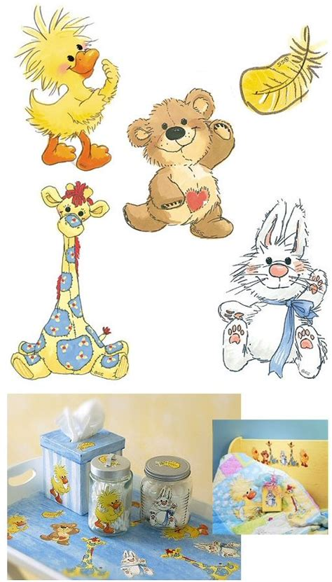 suzys zoo baby nursery wall decals duck bunny bear