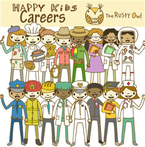 Career Day Clipart Happy Career Clip Set By The Owl Tpt
