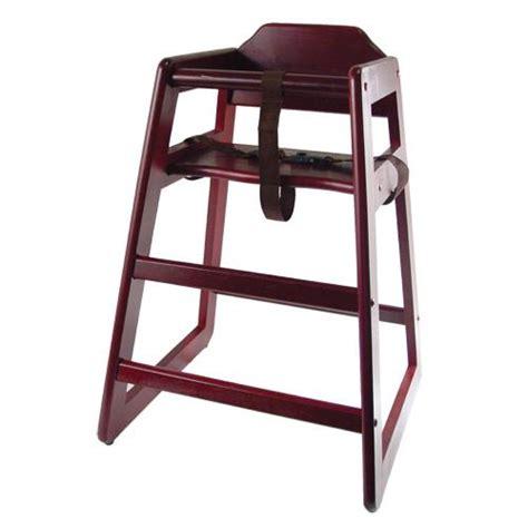 winco chh 103 mahogany finish wood high chair etundra