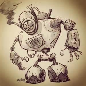 Steampunk Robot Drawing
