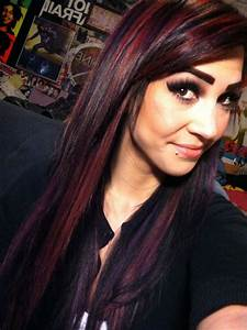 Black red and purple bright hair color | Hair & Makeup ...