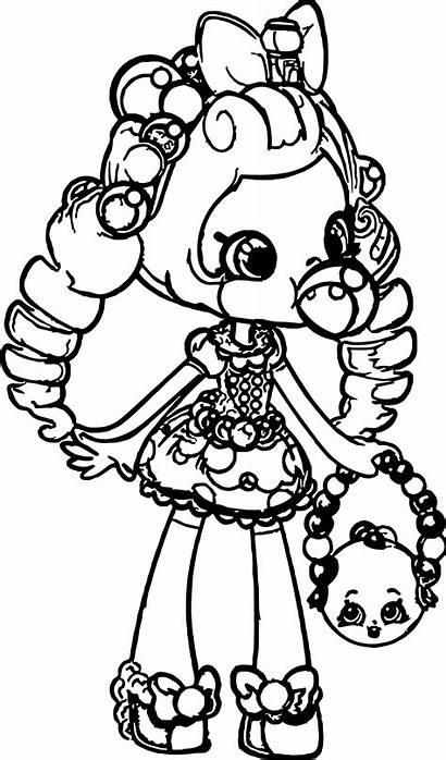 Coloring Shopkins Pages Dolls Printable Shoppie Hamburger