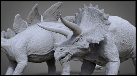 Triceratops From Jurassic Park Stegosaur From The Lost