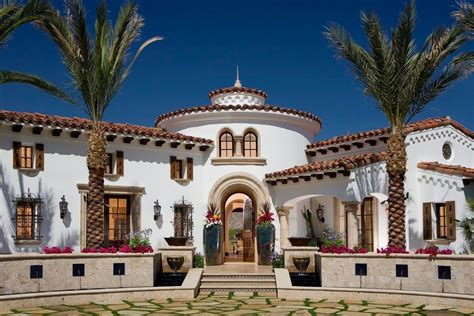 spanish colonial mediterranean architecture adobe house plans  center courtyard beautiful