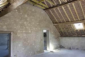 Mur En Moellon : piquage du moellon la fin la grange ~ Dallasstarsshop.com Idées de Décoration