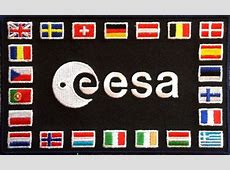 ESA European Space Agency National Flags Patch 22 flags