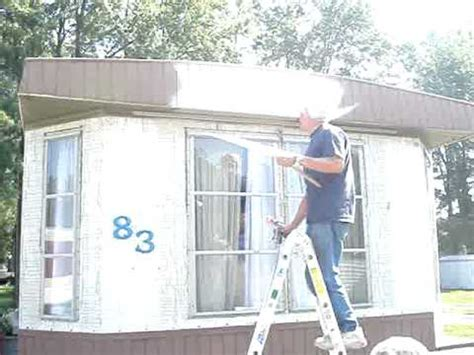 Painting The Mobile Home  Starting!  Youtube