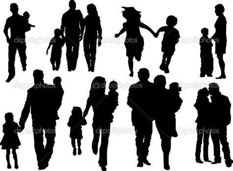 Silhouette Extended Family Clipart