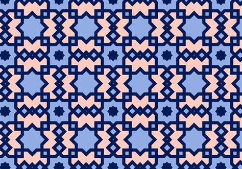 square arabic pattern vector free vector