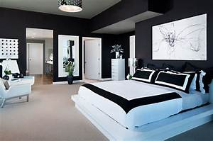 10 amazing black and white bedrooms decoholic With black and white bedroom decor