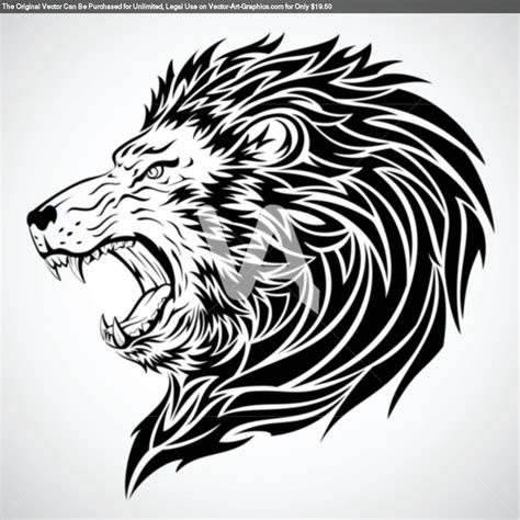 vector graphics  lion roar tribal tattoo tattoomagz tattoo designs ink works body