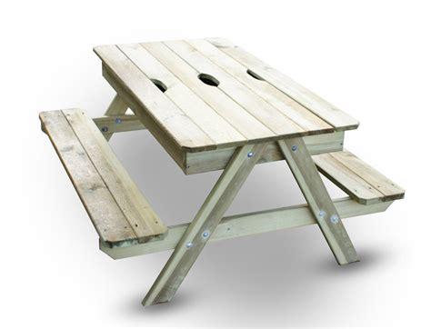 table bac a bois table de pique nique bois avec bac 224 int 233 gr 233