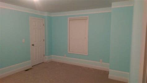 teal striped bedroom paint color is behr tahitian breeze
