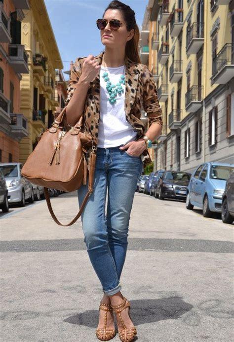 Leopard blazer  Storets en Blazers H en Otras joyas / Bisuteru00eda Hollister en Jeans Zara en ...