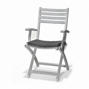 Fauteuil De Jardin Pliant : fauteuil pliant portsmouth gris ceruse coussin achat ~ Dailycaller-alerts.com Idées de Décoration