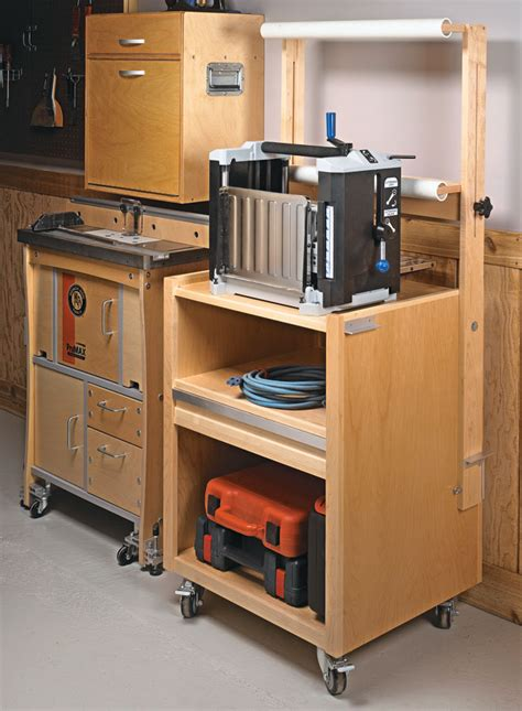 mobile planer stand woodworking project woodsmith plans