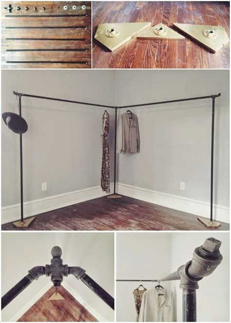 cool  clever diy corner closet ideas