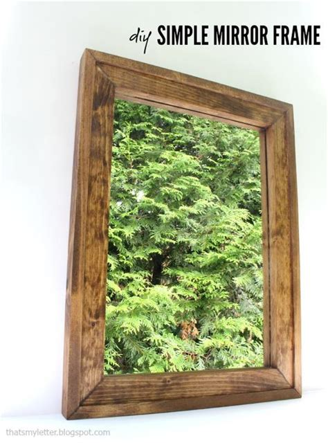 simple mirror frame buildsomethingcom