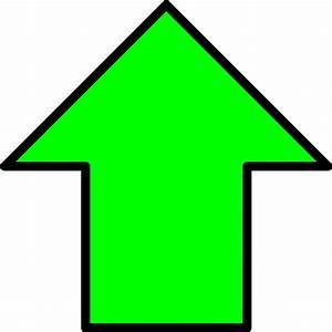 Green Up Arrow clip art - vector clip art online, royalty ...