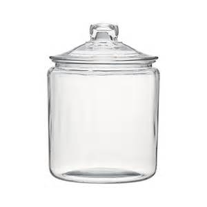 clear glass kitchen canisters heritage hill 128 oz glass jar with lid crate and barrel