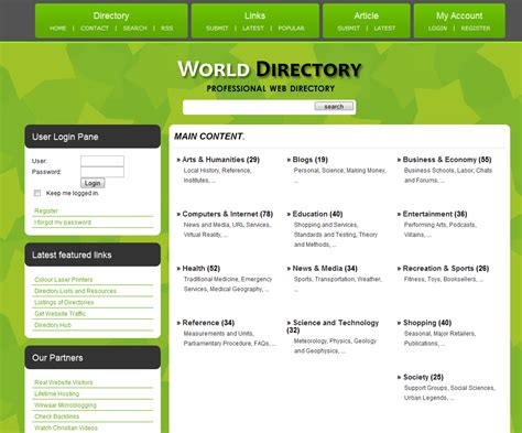 Php Link Directory Template Archive