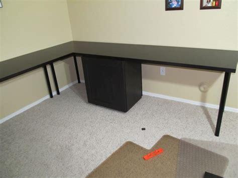 large desk with besta ikea hackers ikea hackers