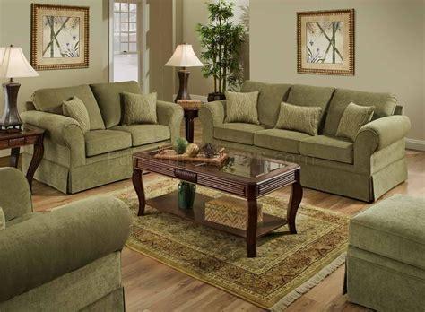arlington moss fabric sofa loveseat set woptional items