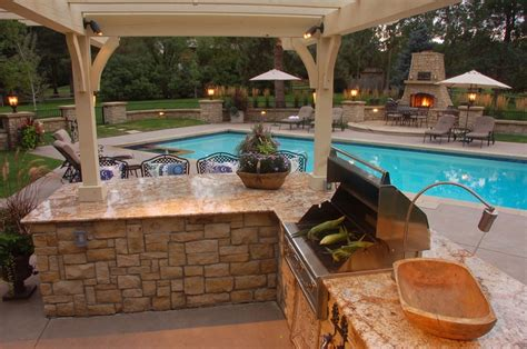 outdoor grilling area w pergola greg bobich outdoor