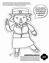Juliette Gordon Coloring Low Pages Scout Birthday Scouts Brownie Activities Daisy Way Flat Badge Heartland Party 2nd Grade Swap Cut sketch template