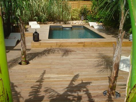 piscine semie enterree en bois piscine rectangulaire semi enterr 233 e 183 bluewood