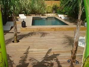 Piscine Enterrée Rectangulaire : piscine rectangulaire semi enterr e bluewood ~ Farleysfitness.com Idées de Décoration