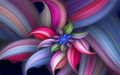 Colorful Abstract Flower Flowers Backgrounds Desktop Pretty
