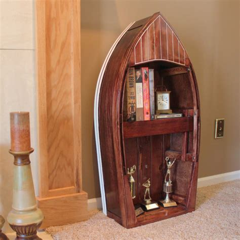Boat Bookshelf by Top 33 Creative Bookshelves Designs