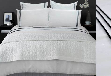 Luxton's Laura Trim Quilt Cover Set with striped european