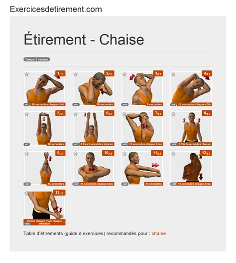 bureau des sports exercicesdetirement com l 39 image étirement chaise