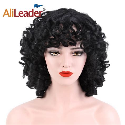 Alileader Synthetic Wig Short Hair Wigs With Bangs Water