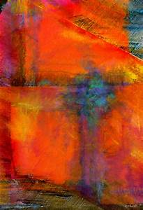 ORANGE Abstract painting abstract art digital by WiMDesigns