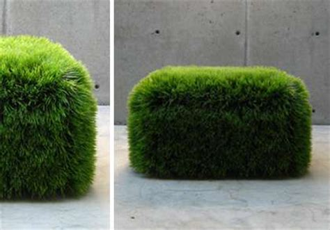 astroturf indoor seating faux grass ottoman