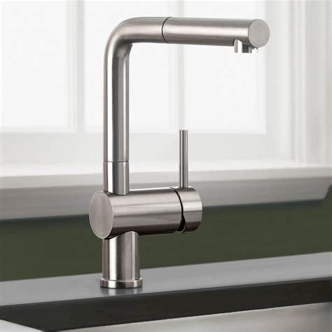blanco faucets kitchen blanco 441335 linus truffle pullout spray kitchen faucets